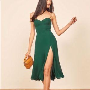 NWT Reformation Juliette Dress Emerald Green Dress